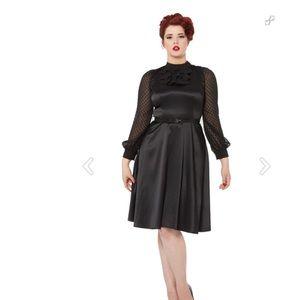Voodoo Vixen Black AUDREY Retro Dress Large